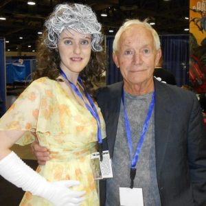 "Ashley M. Kalfas as ""Rogue"" with Lance Henriksen"