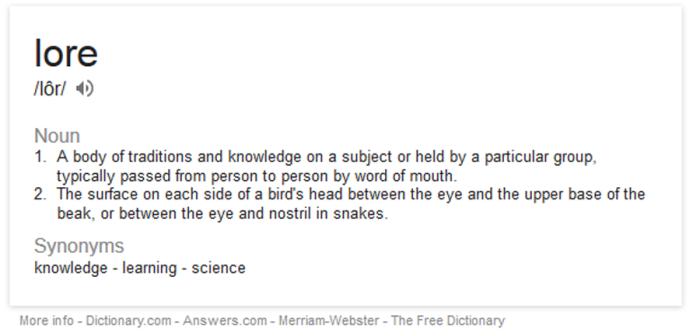 LORE definition-1