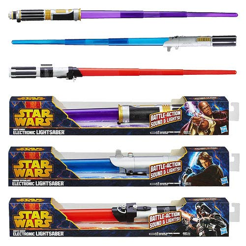 REBLOG/RETWEET: #StarWars Movie Electronic Lightsabers 2013 Wave 1 - Hasbro @EntEarth