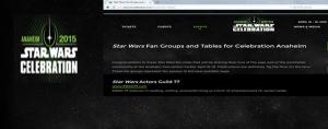 2015 Star Wars Celebration Anaheim SWAG 77 Fan Table Booth 1613