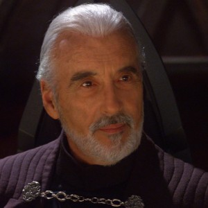 Christopher Lee as Count Dooku