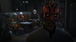 "STAR WARS REBELS - ""The Holocrons of Fate"" - When Maul takes the crew of the Ghost hostage, Ezra and Kanan must recover an ancient Sith artifact to save them. This episode of ""Star Wars Rebels"" airs Saturday, October 01 (8:30-9:00 P.M. EDT) on Disney XD. (Lucasfilm) DARTH MAUL"